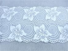 Dantela elastica alba 18cm, cod303