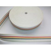 Elastic alb cu tricolor 40 mm (rola de 25 m)
