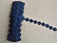 *Galon poliester flori - 25mm, bleumarin