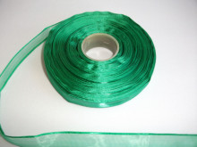Panglica organza 10 mm - verde