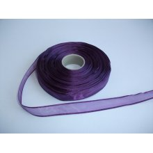 Panglica organza 15 mm mov inchis