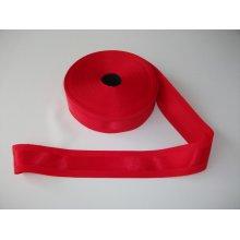Panglica satinata pe mijloc 40 mm rosie