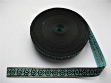 Banda tesuta Anca 13 mm - bleu cu auriu