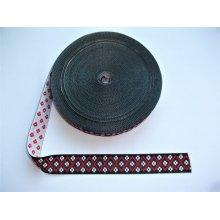 Banda tesuta Tincuta 25 mm - fond negru