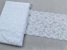 Dantela elastica alba 15cm, cod301