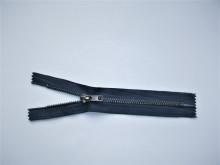 Fermoare fixe #4 metal 10 cm bleumarin cu dinti negrii