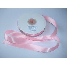 Panglica satinata ambele fete 20 mm roz