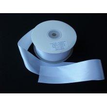 Panglica satinata ambele fete 50 mm alb