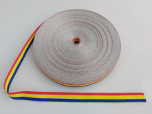 Banda tesuta Meda cu fir argintiu - 16mm x 50m