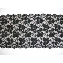 Dantela elastica neagra 14.5 cm