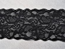 Dantela elastica neagra 8cm, cod300