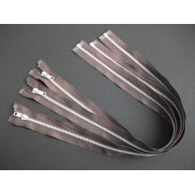 Fermoare detasabile #5 aluminiu maro 60 cm