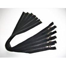 Fermoare detasabile #5 metal negru 50,60,80,90,100 cm