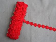 *Galon poliester flori - 25mm, rosu