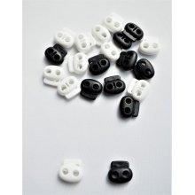 Opritori albi plastic snur dublu - 20buc