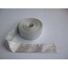 Panglica argintie 25 mm