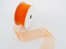 Panglica organza 41 mm portocaliu
