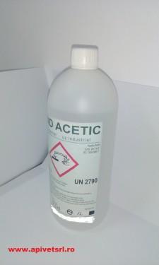 Acid Acetic 80%, Glacial, imbuteliere 1 litru, flacon de plastic