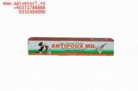 Antipoux MD- cea mai buna la pret solutie fara prescriptie pt deparazitare atat catei cat si pisici, pipeta pt 120 kg greutate vie, pt 1 luna