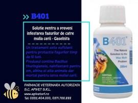 B 401=certan solutie Ecologica pt prevenirea distrugerii fagurilor de molia Cerii