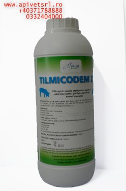 Tilmicodem imbutelierea la 0.5 litri- tratamentul/preventia problemelor respiratorii bacteriene la pasari/Porc