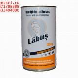 Conserva de Caini Labus, de 1250 Grame, la bax de 8