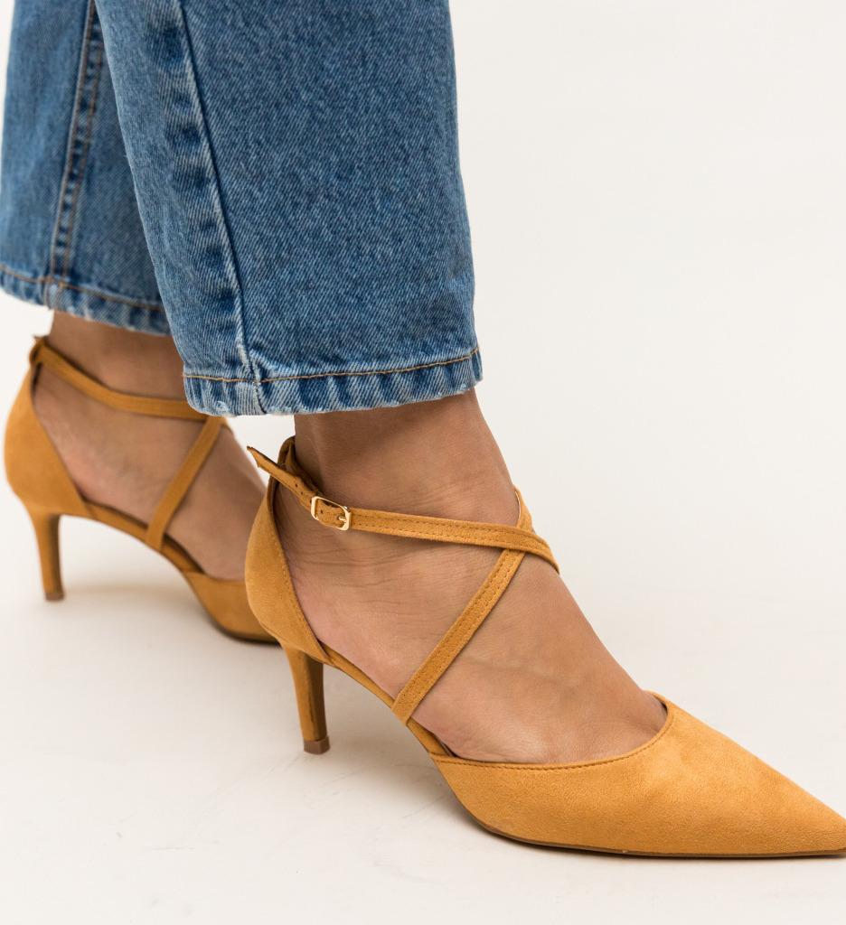 Pantofi Burke Camel