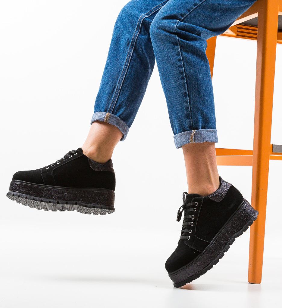 Pantofi Casual Cornero Negri 2