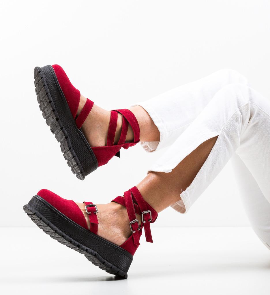Pantofi Casual Deluxema Rosii