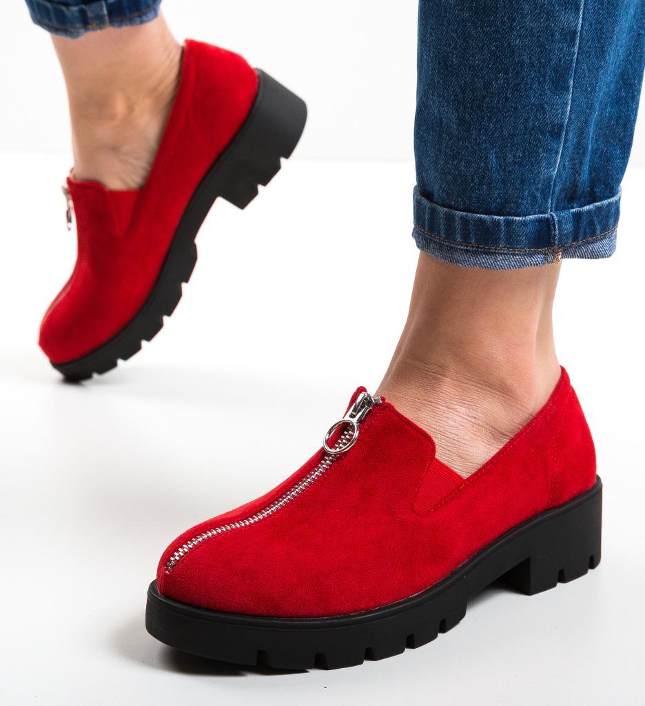 Pantofi Casual Guire Rosii