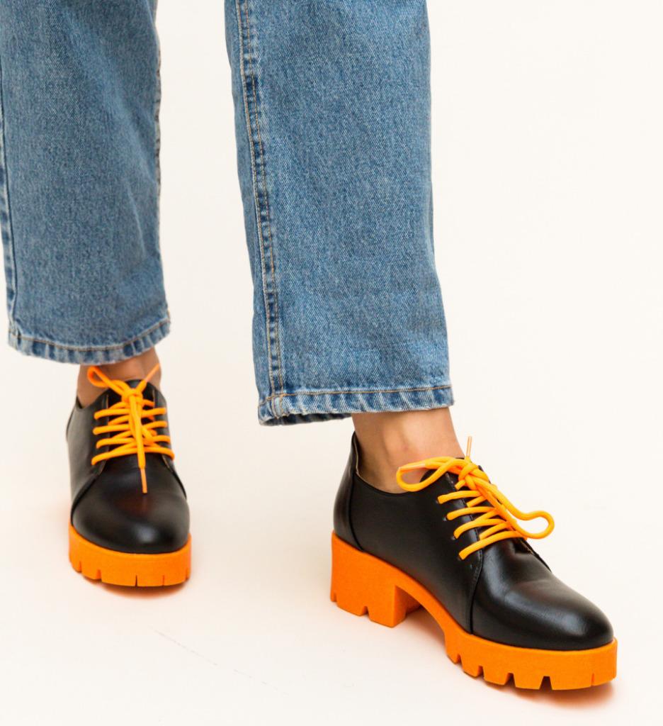 Pantofi Casual Hapino Portocali