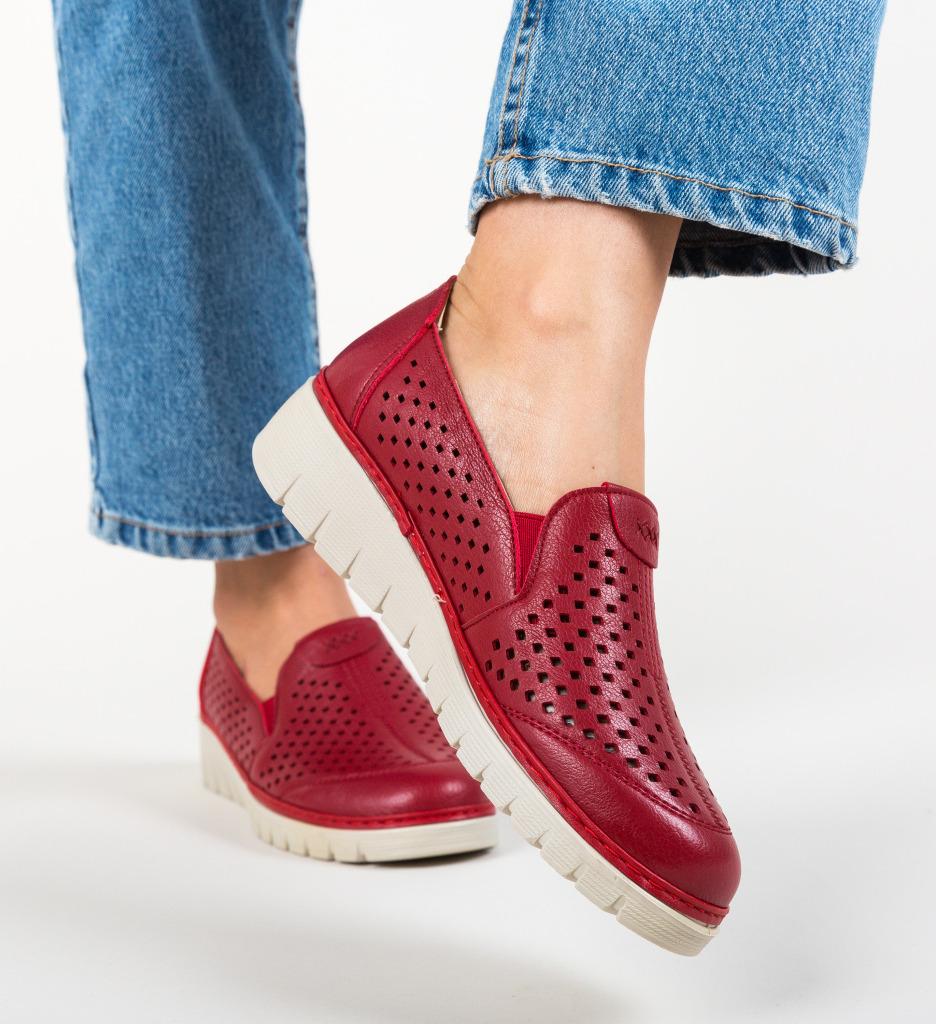 Pantofi Casual Nevaya Rosii
