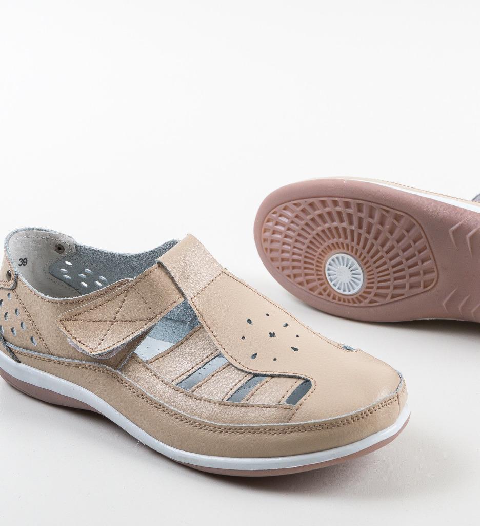 Pantofi Casual Saptes Bej