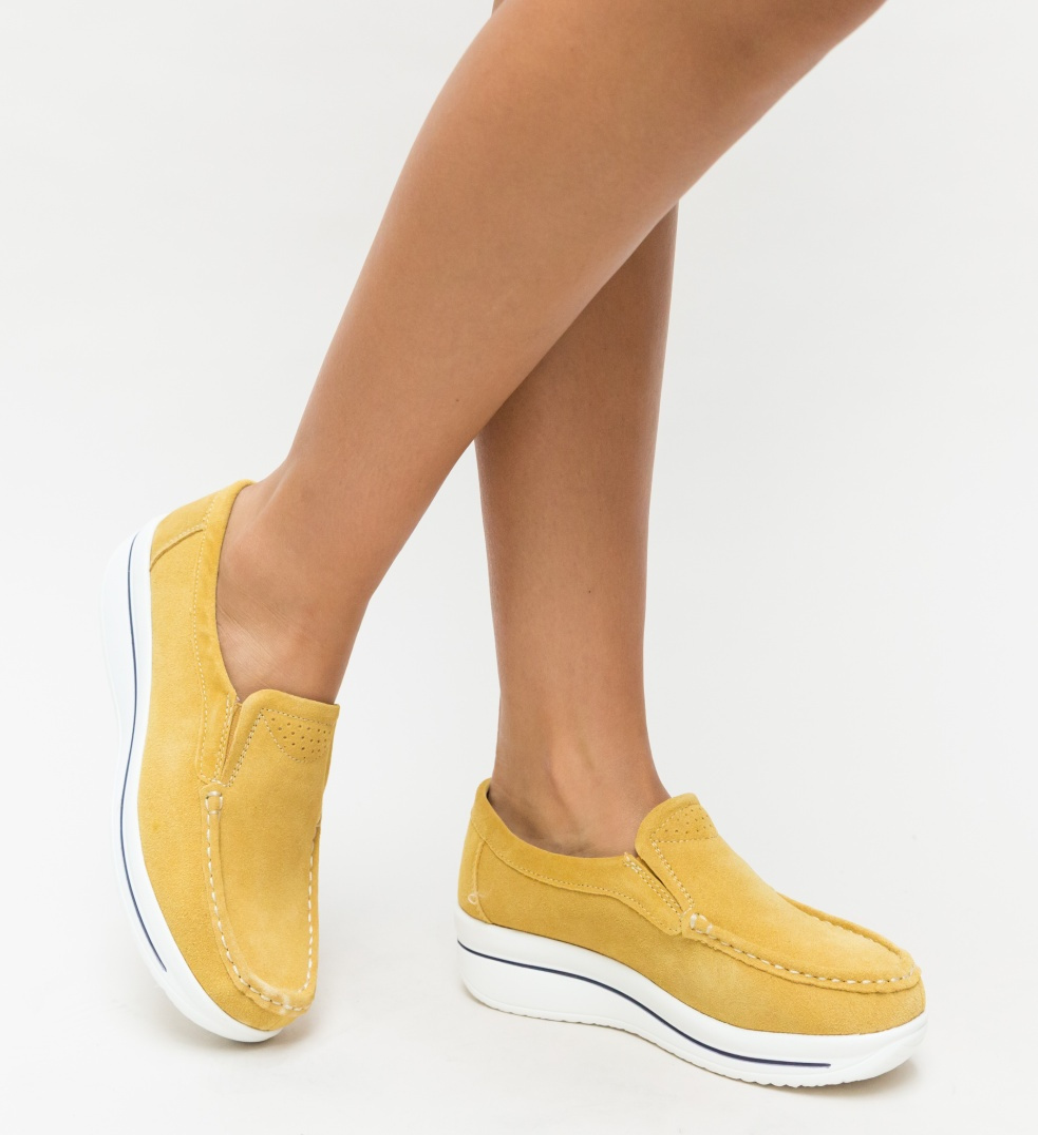 Pantofi Casual Verno Galbeni imagine 2021