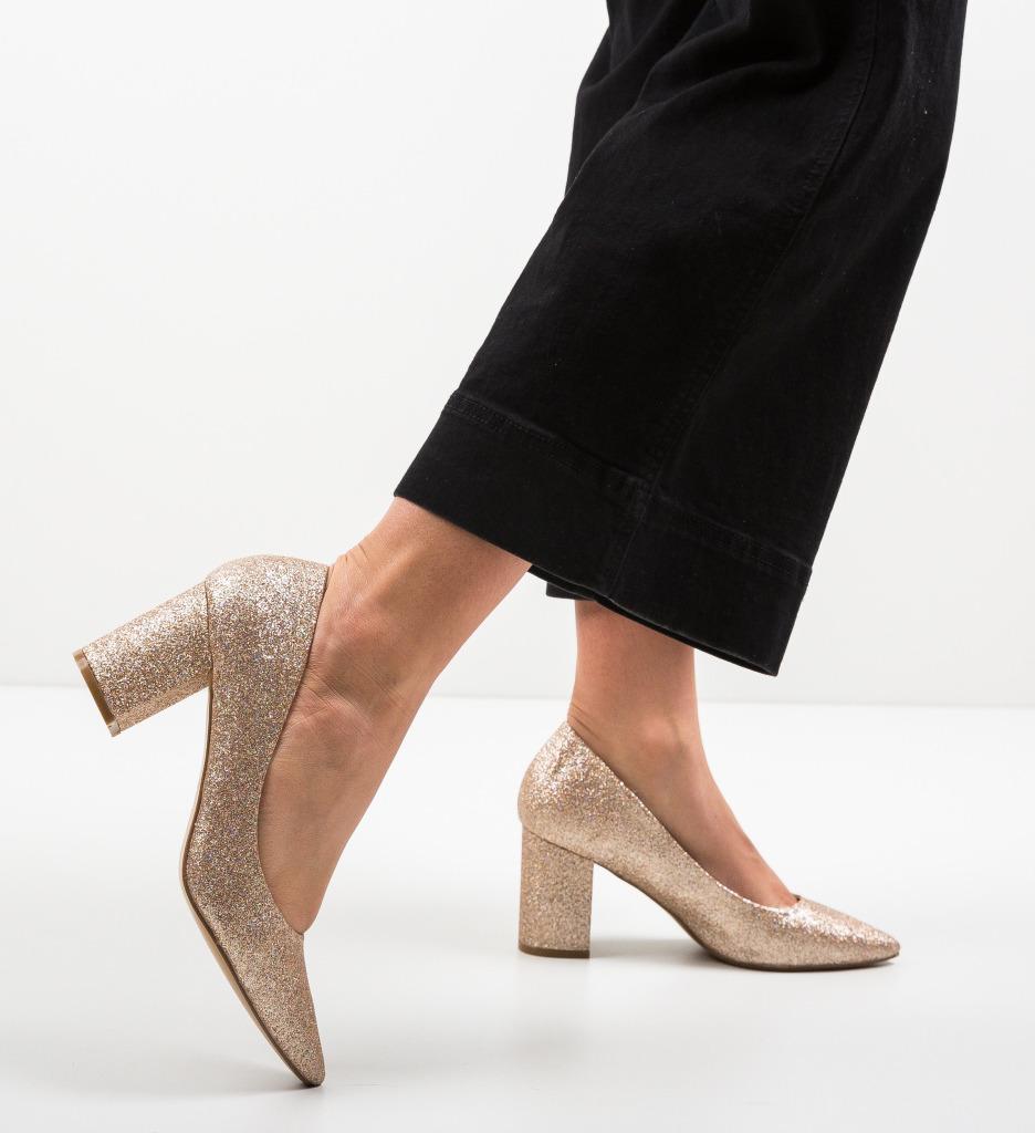 Pantofi Cilio Aurii