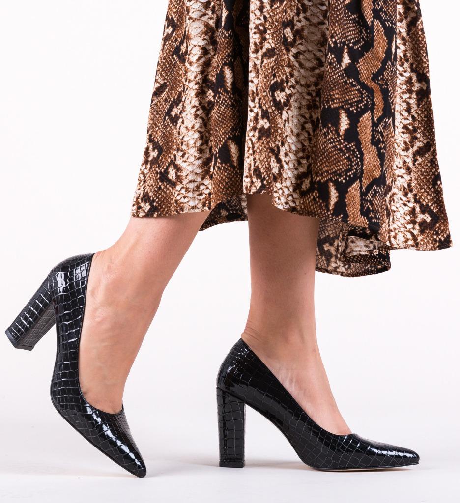 Pantofi Cocodil Negri 2