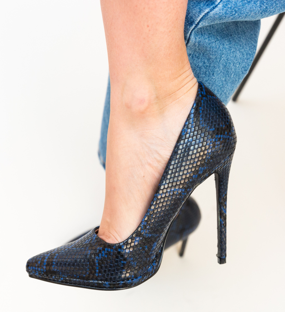 Pantofi Eylin Bleumarin