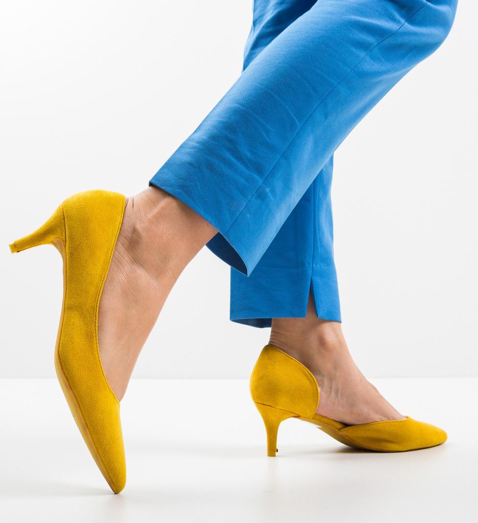 Pantofi Gely Galbeni