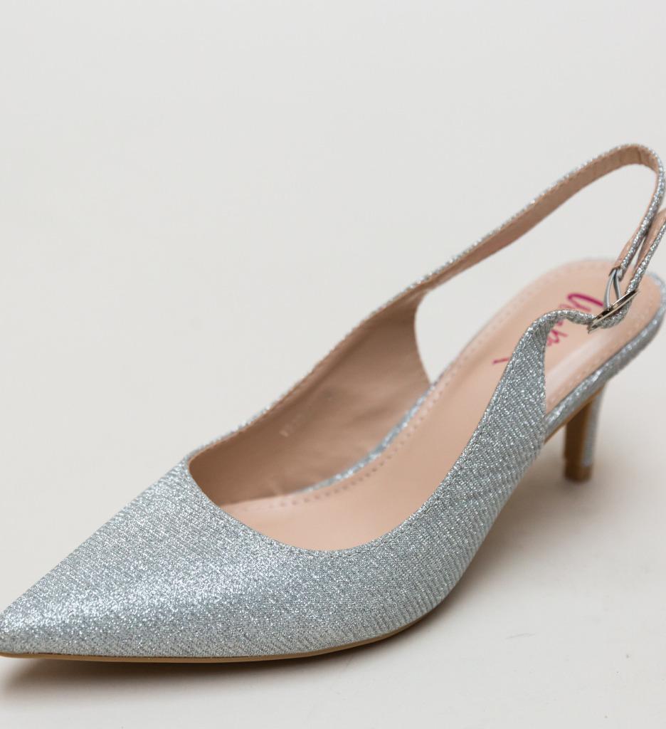 Pantofi Jax Argintii