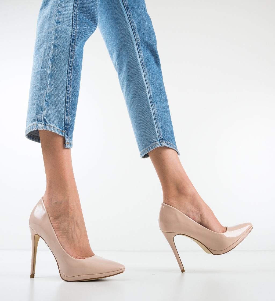 Pantofi Rebrean Nude