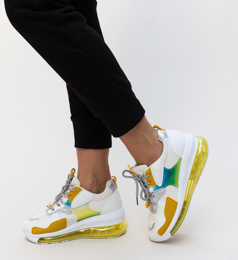 Pantofi Sport Croft Galbeni imagine 2021