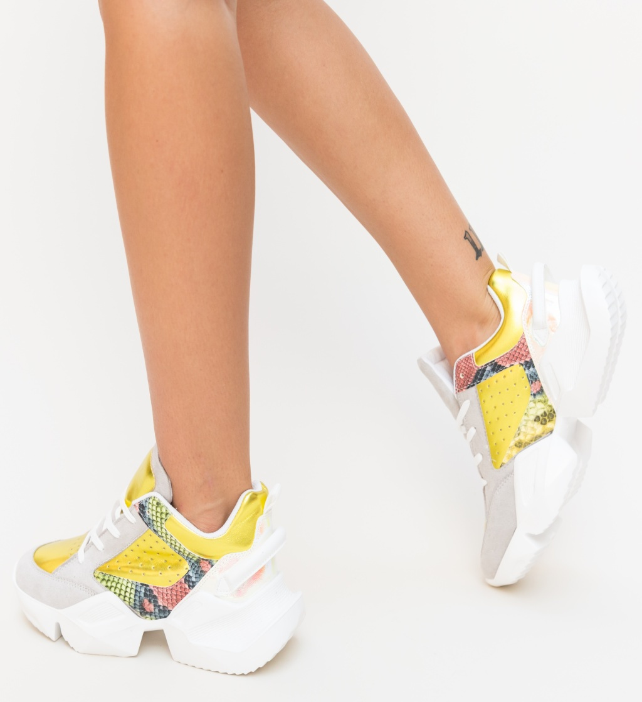 Pantofi Sport Vicent Galbeni imagine 2021