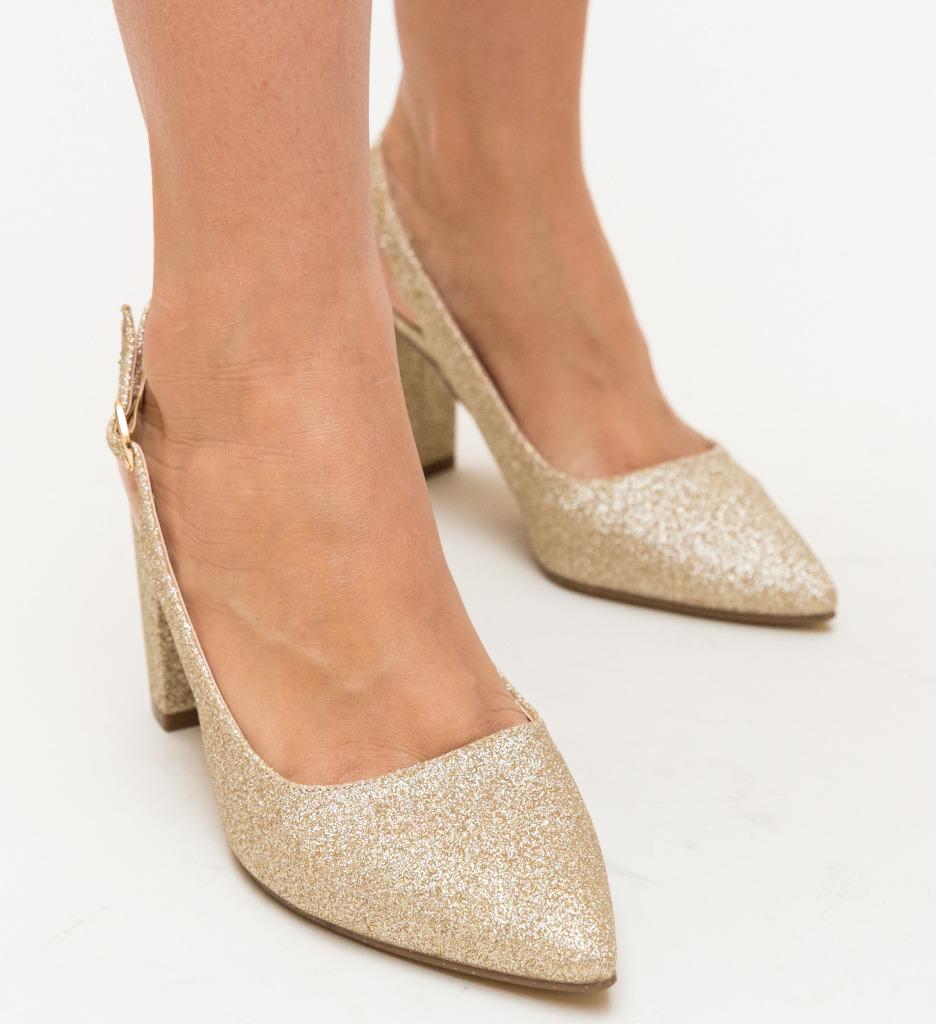 Pantofi Todd Aurii