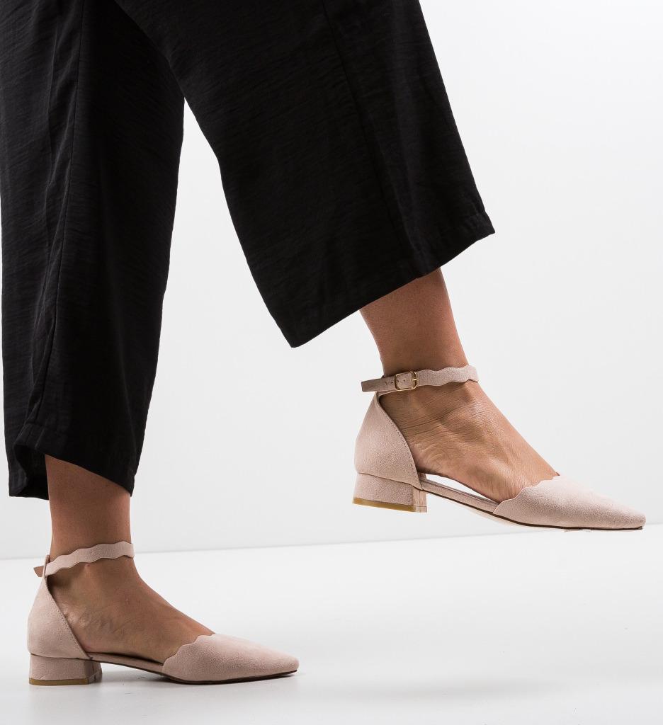 Pantofi Wood Nude
