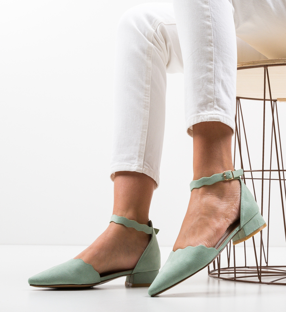 Pantofi Wood Verzi
