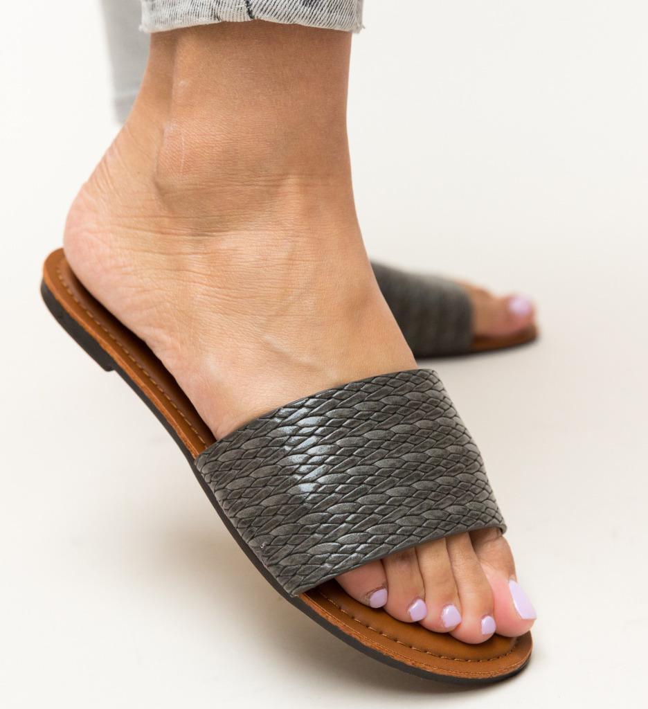 Papuci Brax Gri