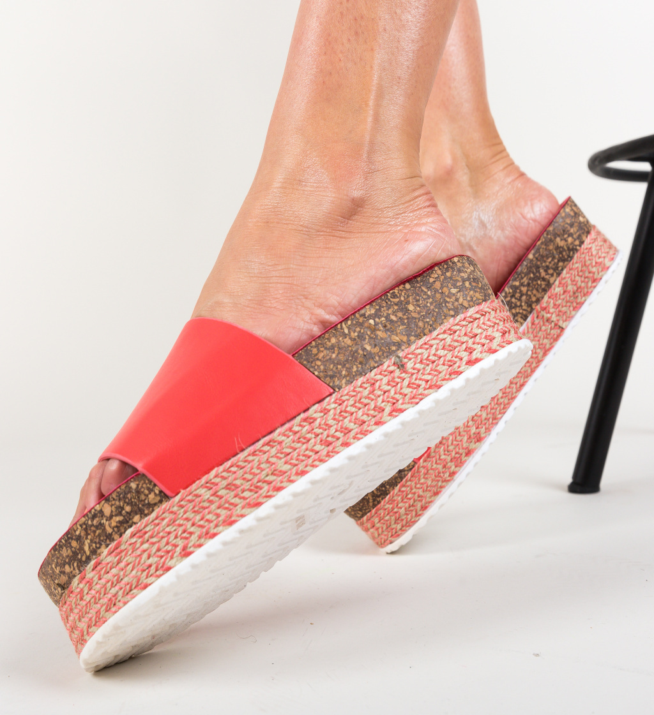 Papuci Draper Rosii