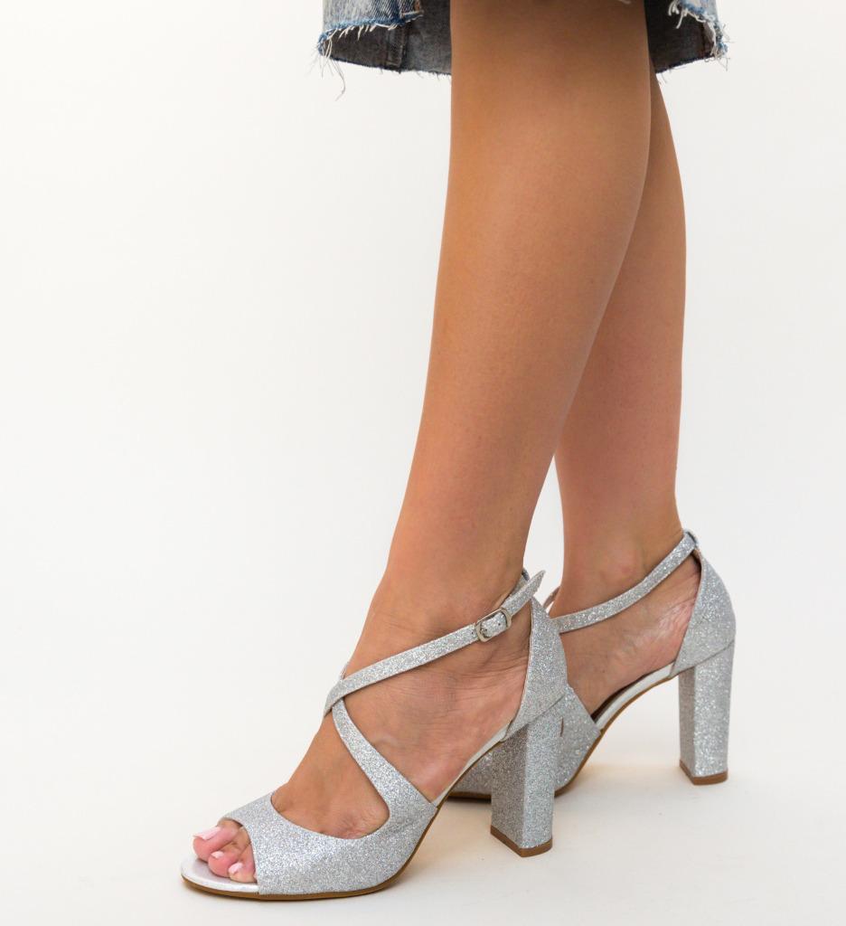 Sandale Devante Argintii imagine 2021