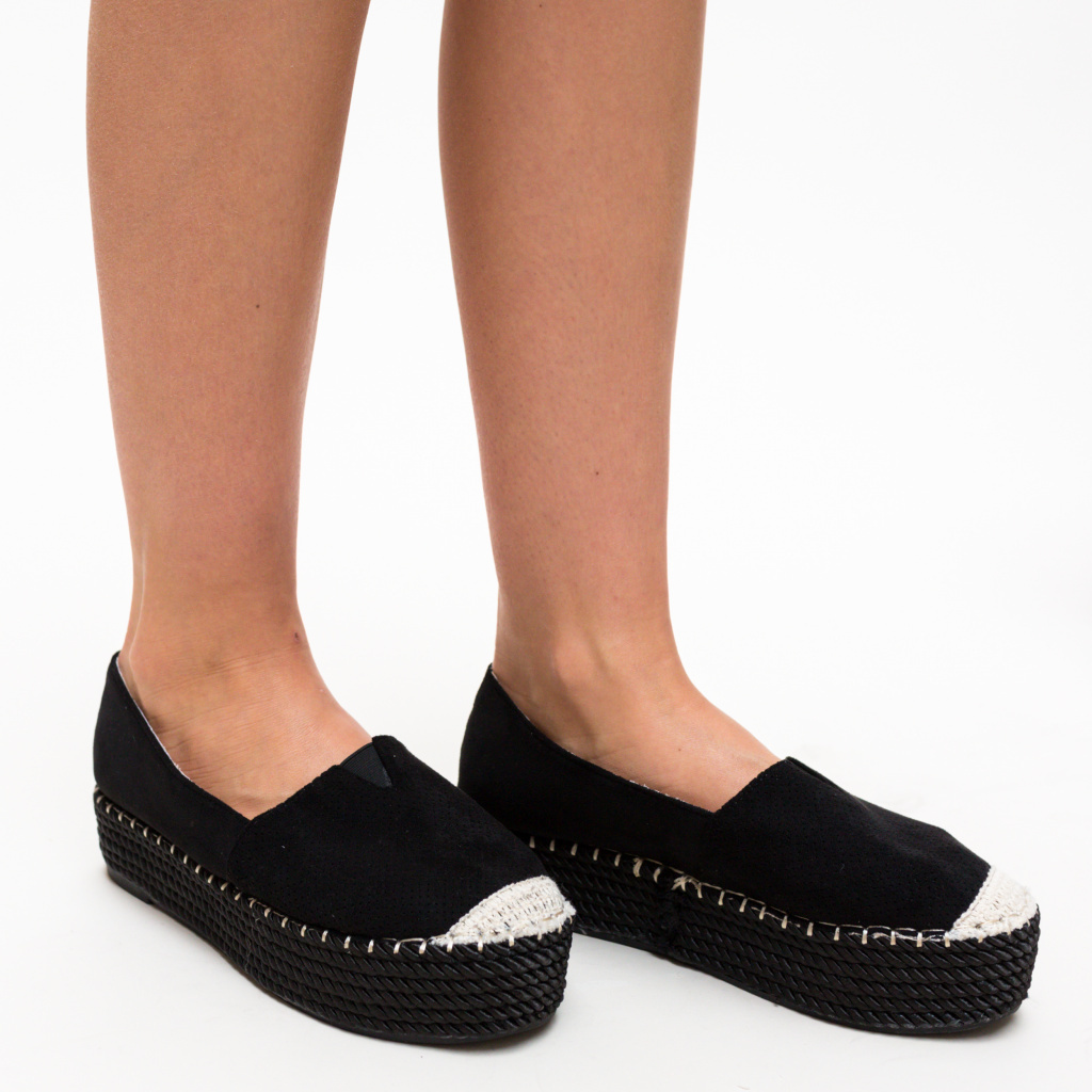 Espadrile Hexagon Negre imagine 2021