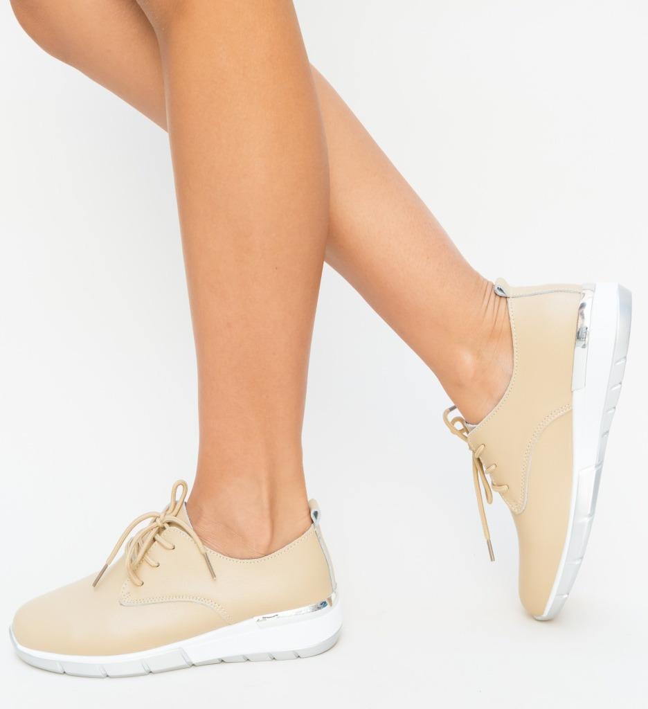 Pantofi Casual Barend Bej